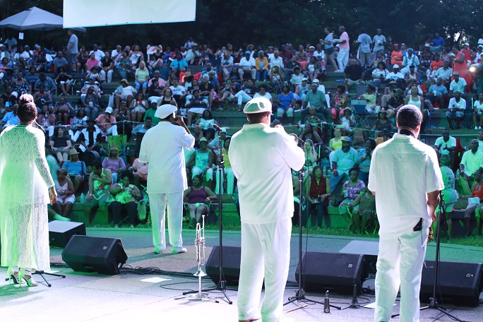 Rose Royce On Stage at 2017 Jefferson Street Jazz & Blues Festival